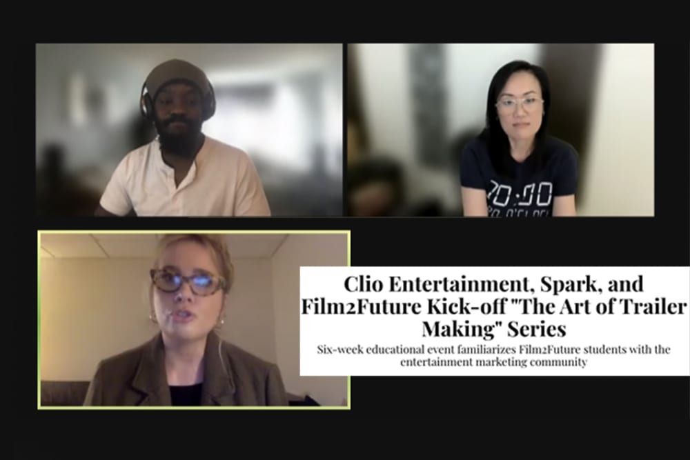 """Clio Entertainment, Spark, and Film2Future Kick-off """"The Art of Trailer Making"""" Series"""